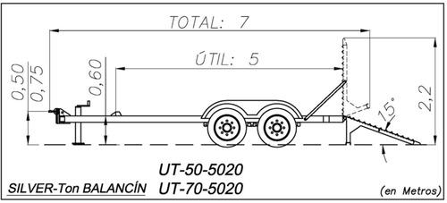 trailer balancin 5 ton. (4 y 12 cheques)