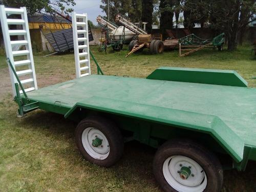 trailer balancin de 5x2 c/rampas para 5tn nuevos disponibles