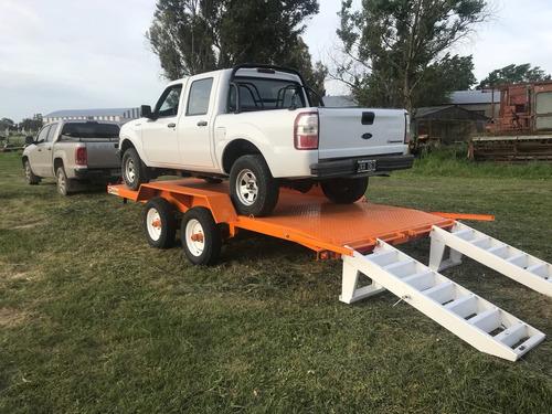 trailer balancin vehiculos, autoelevador, palas cargadoras