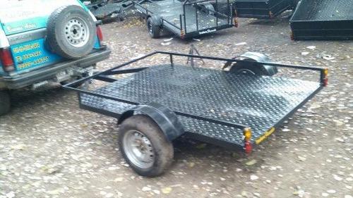 trailer baranda baja cuatris, motos batan. stock permanente