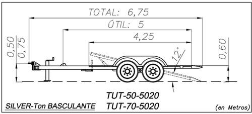 trailer basculante autoelevador minicargador 5 ton (3-6-12)