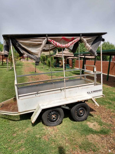 trailer batan con asientos techado