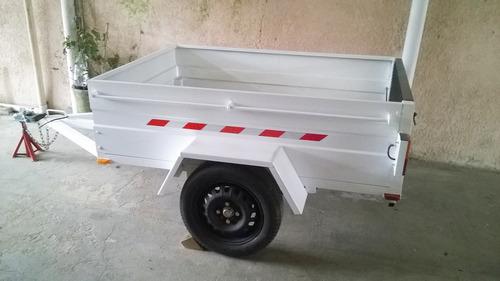 trailer blanco nuevo y trailers de distintos tipos