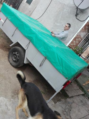 trailer carpa muy comoda . dos ruedas