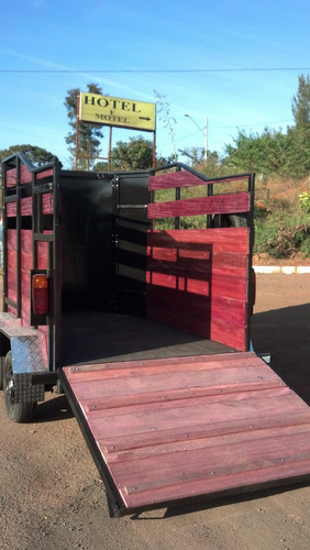 trailer carreta reboque transporte de dois cavalo