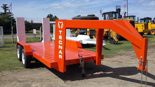 trailer carreton tecnar c/ cigueña p/ 4 ton 4 mts mod tc4000