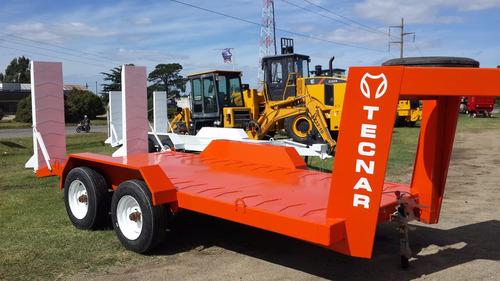 trailer carreton tecnar c/ cigueña p/ 4 ton mod t4000