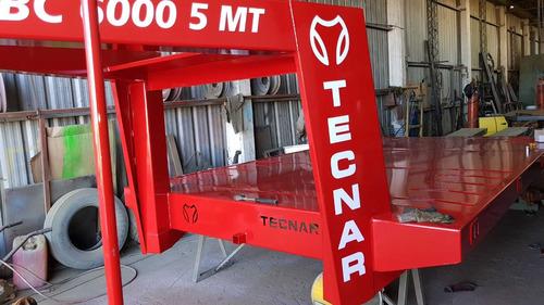 trailer carreton tecnar m tcbc 6000 p/6 ton 5 mts cisne