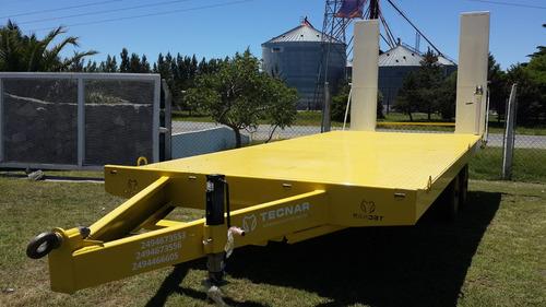 trailer carreton tecnar t 8000 p/9 ton - p/ retropalas