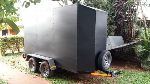 trailer cerrado doble eje okm