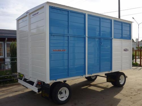 trailer cerrado iva incluido taller rodante obrador 2tn