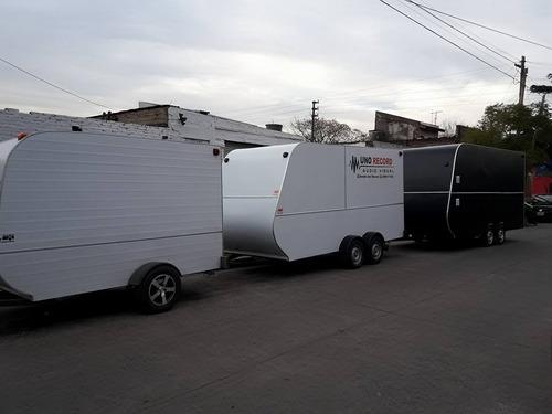 trailer cerrado para cuatri y cargas generales.