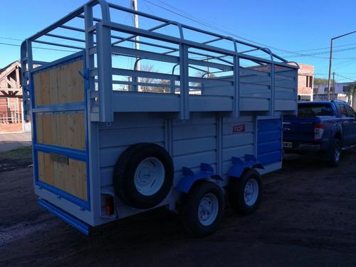 trailer cigueña cuello cisne para caballos de 3 a 8 animales