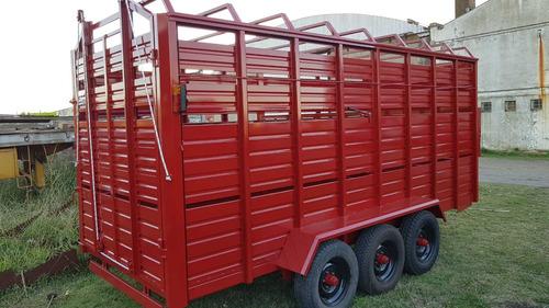 trailer cigueña  jaula tecnar mod tcjm5500 p p/6 ton