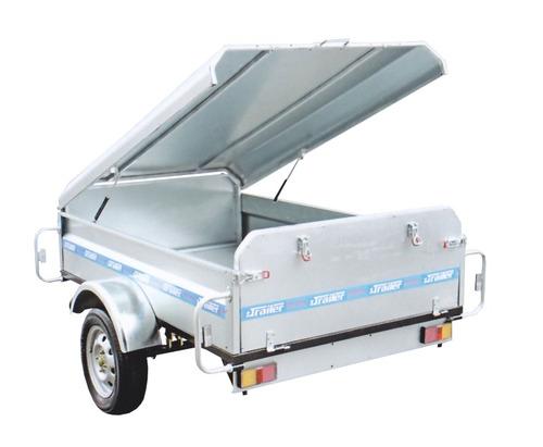 trailer con tapa de fibra multiuso