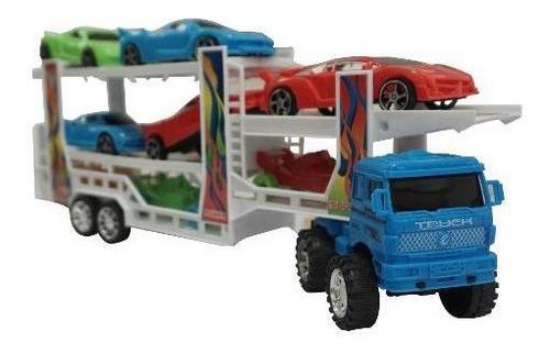 trailer con varios carros, a fricción novicompu
