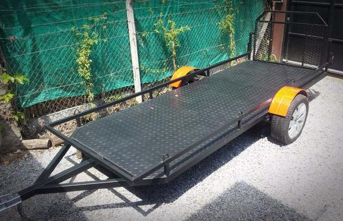 trailer  cuatri 1,24 x 2,25 motos karting cuatriciclo