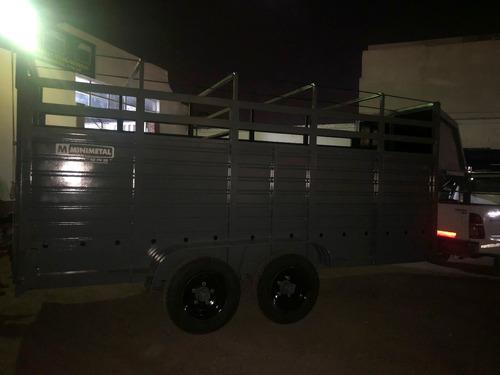 trailer cuello cigueña para animales lcm