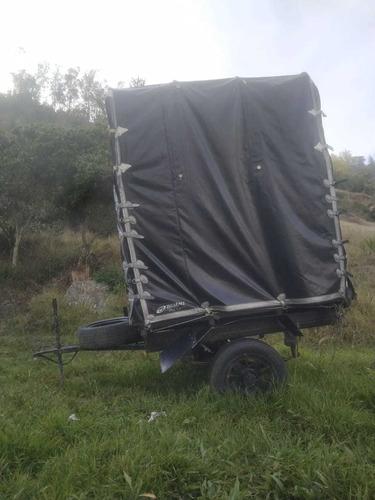 trailer de carga dos ruedas capacidad 1 tonelada