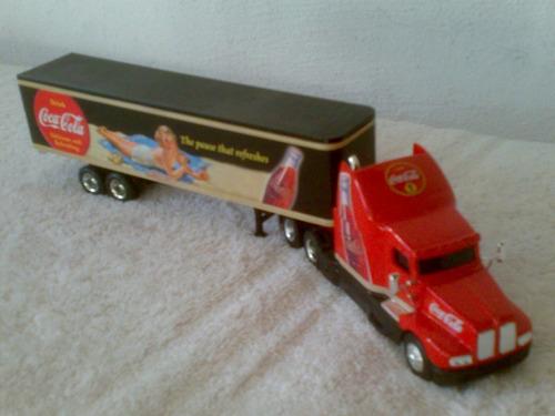 trailer de coca cola escala 1/64 llantas de goma d coleccion