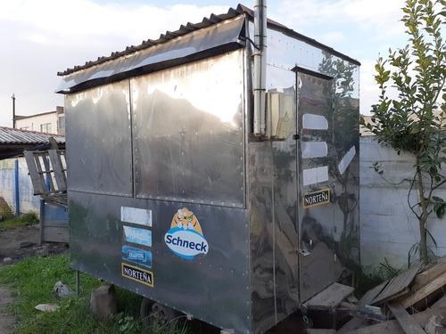 trailer de lanches de aço inox