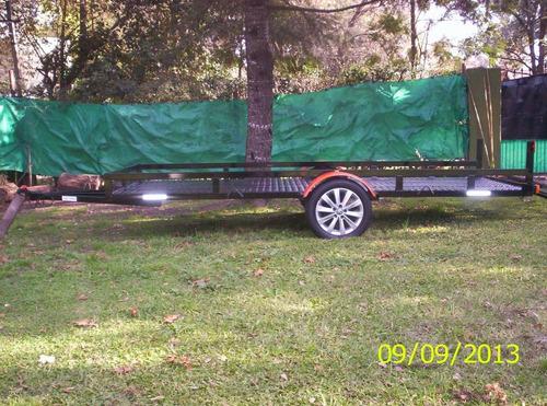 trailer doble c/ rampa para dos cuatri