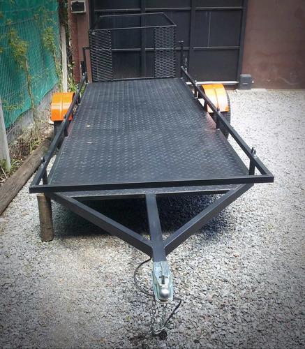 trailer doble cuatri reforzado con rampa cuatriciclo