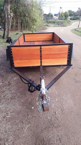 trailer! doble eje 150x3 mts ,forrado en eucaliptus clear