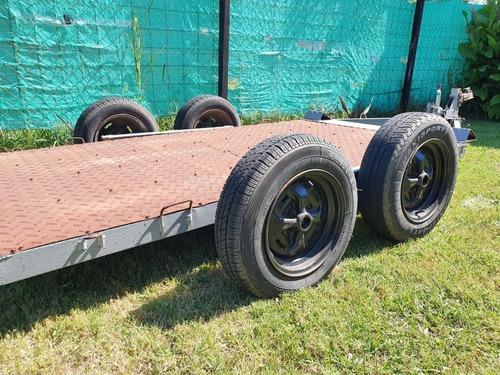 trailer doble eje balancín, altura gancho regulable