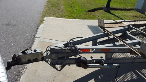 trailer doble eje balancin con freno rolos p/cuatri o lancha