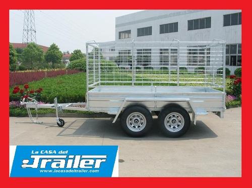 trailer doble eje hasta 2000 kg c/freno la casa del trailer