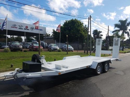 trailer doble eje - motorlider - permuta / financia