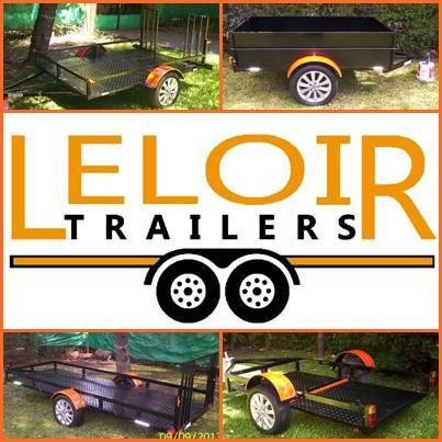 trailer doble para 2 cuatri c/rampa