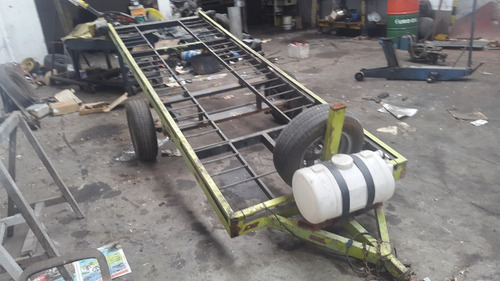 trailer doble para cuatriciclo c/ suspension