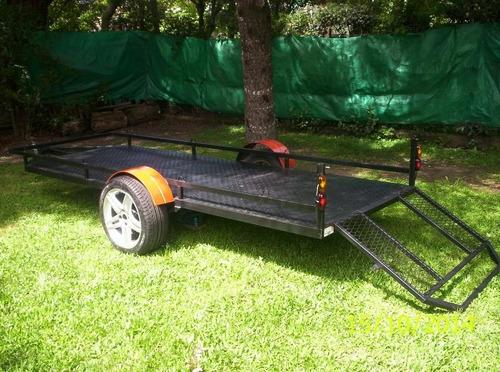 trailer doble para dos cuatriciclos c/ rampa