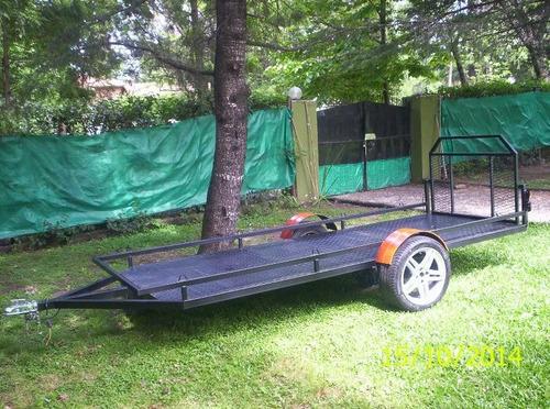 trailer doble para dos cuatriciclos con rampa