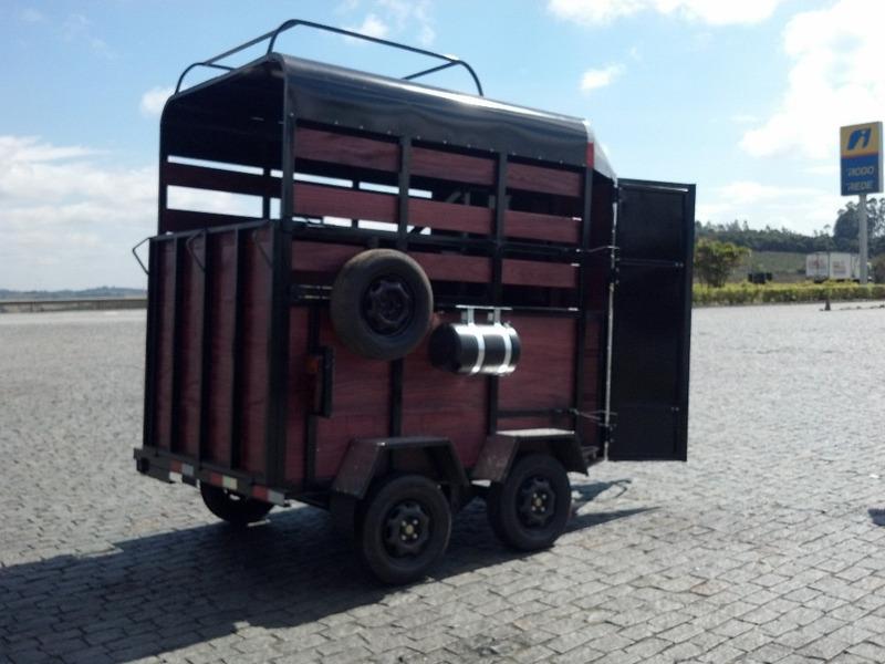 trailer dois cavalos reboque rg ltda