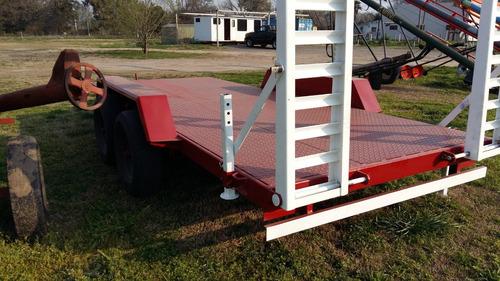 trailer dos ejes balansin con rampas 5x2