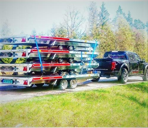 trailer en aluminio para 3000 kg