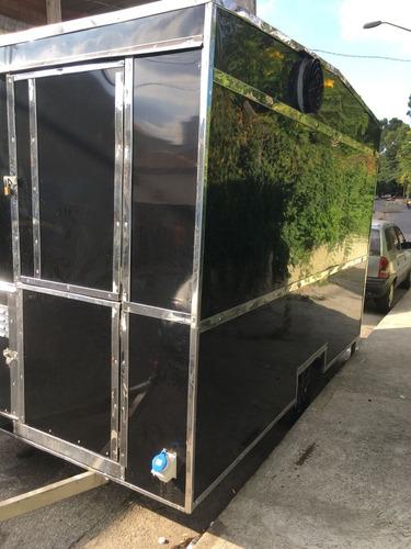 trailer food truck 3,5 x 2 -completo e pronto para trabalhar