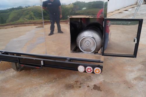 trailer food truck 3mx2m c/ freio - 10x no cartão chassi 01