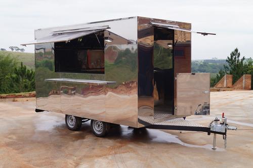 trailer food truck 4m x 2m com freio 10x s/ juros no cartão