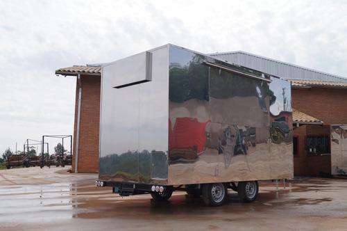 trailer food truck 4mx2m c/ freio - 10x no cartão chassi 01