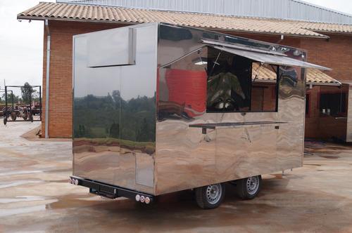 trailer food truck 4mx2m c/ freio - 10x no cartão chassi 02