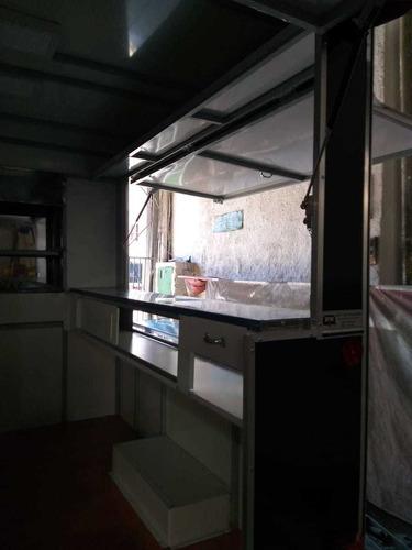 trailer food truck com churrasqueira - p/ espetinhos
