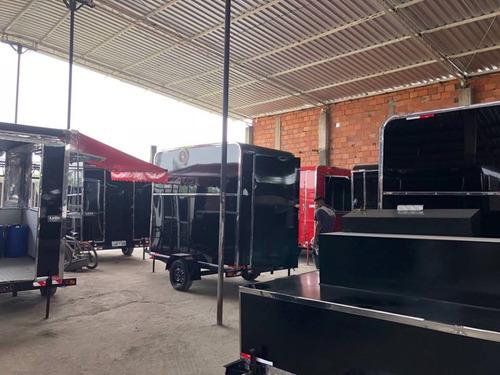 trailer food truck - loja movel - reboque- carretinha -