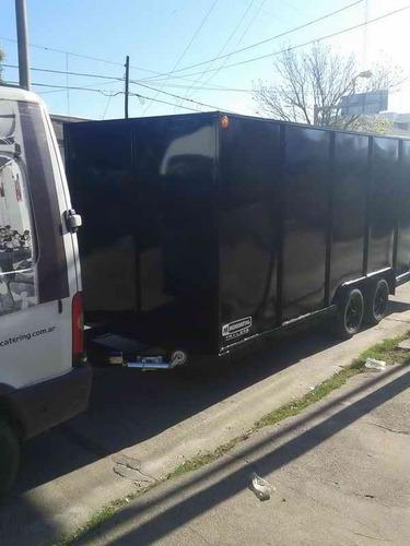 trailer furgon doble eje