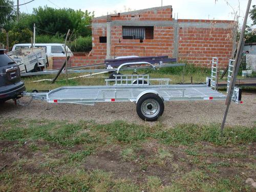 trailer galvanizado para 2, 3 y 4 cuatriciclos