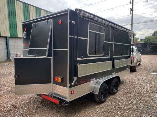 trailer gastronómico 450 nuevo doble eje  fabrica rodante