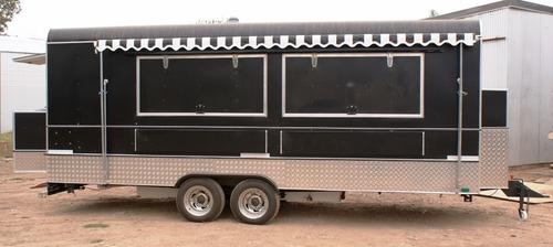 trailer gastronómico americano 6mts, food truck full inox